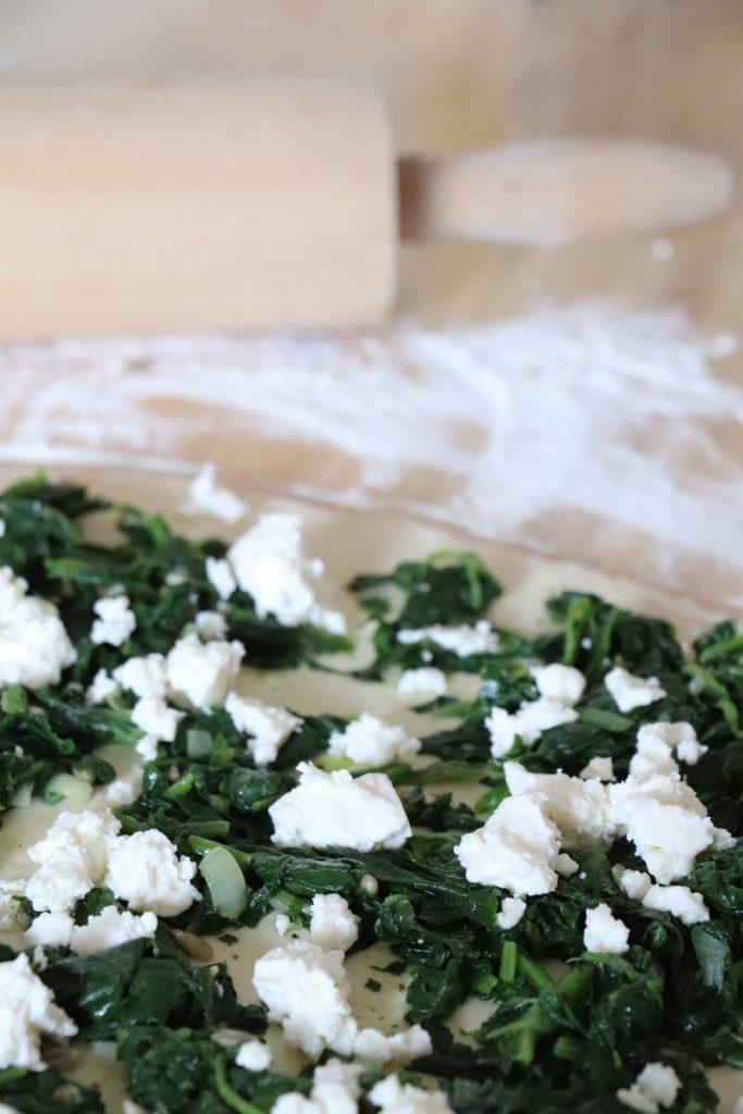 Pizzabrötchen mit Spinat Rezept