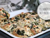 Rezept: Pizzabrötchen mit Knoblauch-Dip
