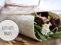 Rezept: Rote Bete Wraps mit Schafskäse und Rucola
