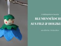 DIY-Idee: Filz-Blumenmädchen aus Holzperlen