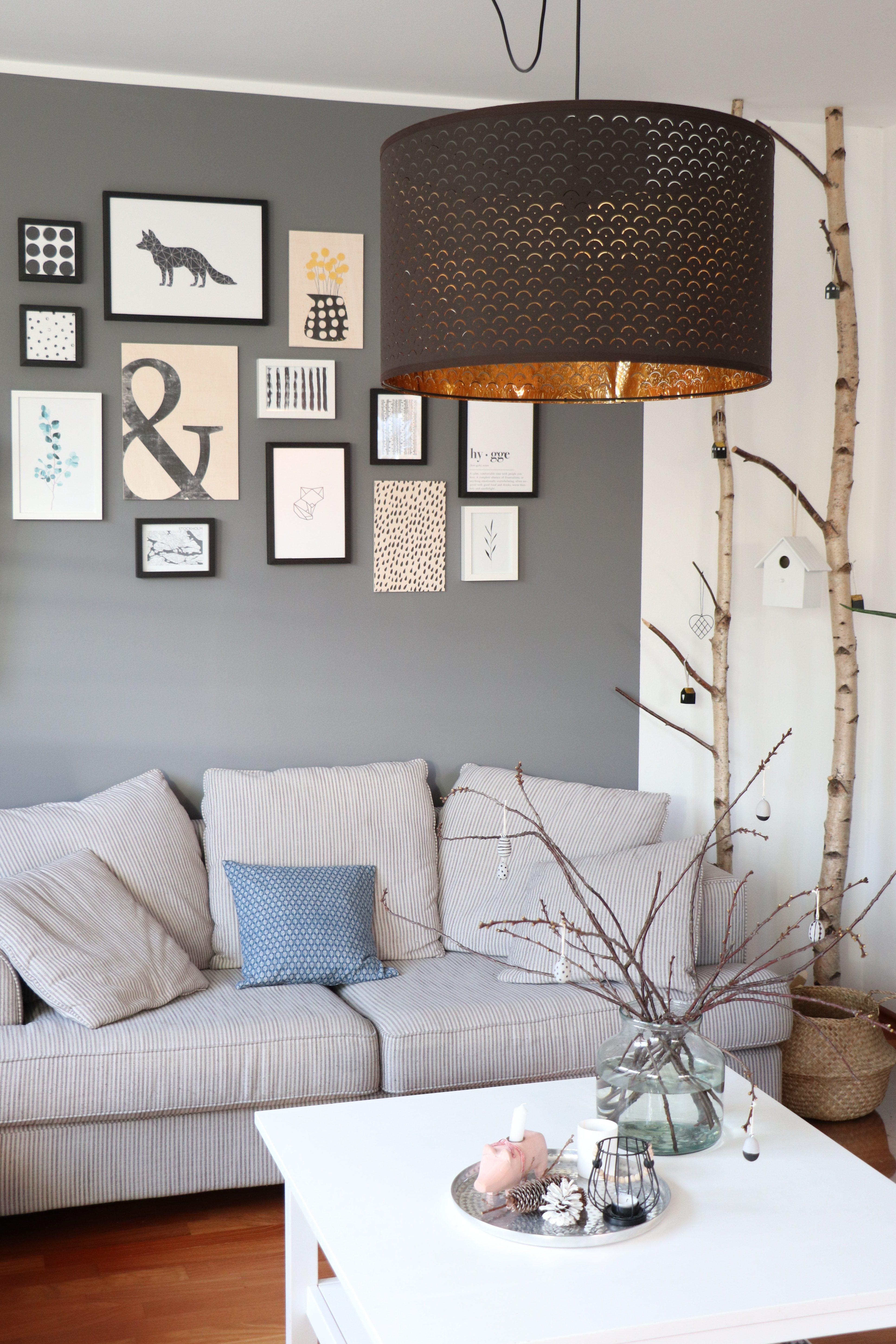 Bilderwand Ideen Wohnzimmer - Lavendelblog