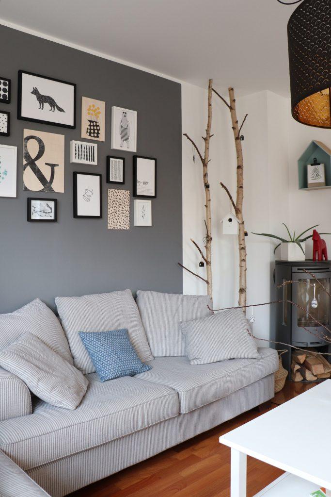 Wohnzimmer-Bilderwand: Skandinavisch, schlicht und hygge ...