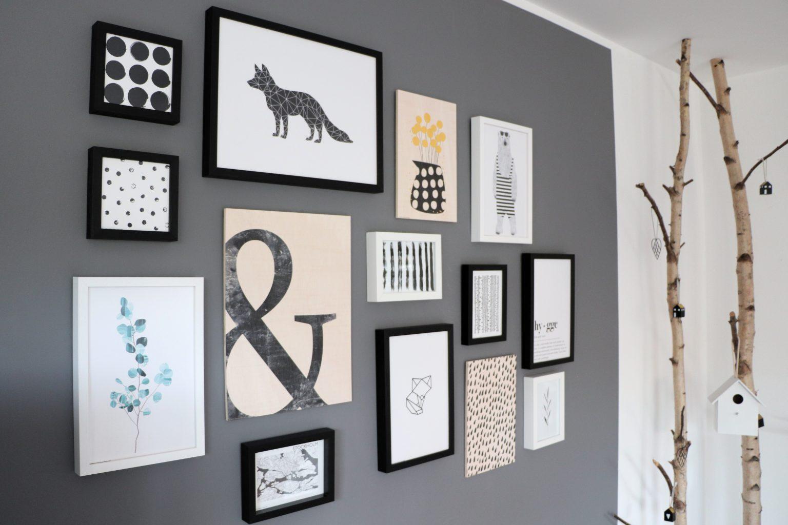 Wohnzimmer bilderwand skandinavisch schlicht und hygge lavendelblog - Bilderwand gestalten ...