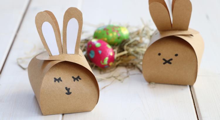 Hase Geschenkschachtel basteln Ostern