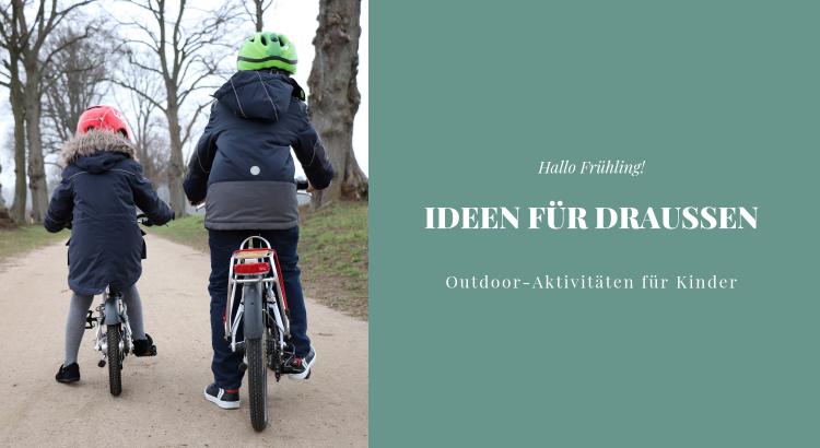 Ideen für draußen Kinder Frühling