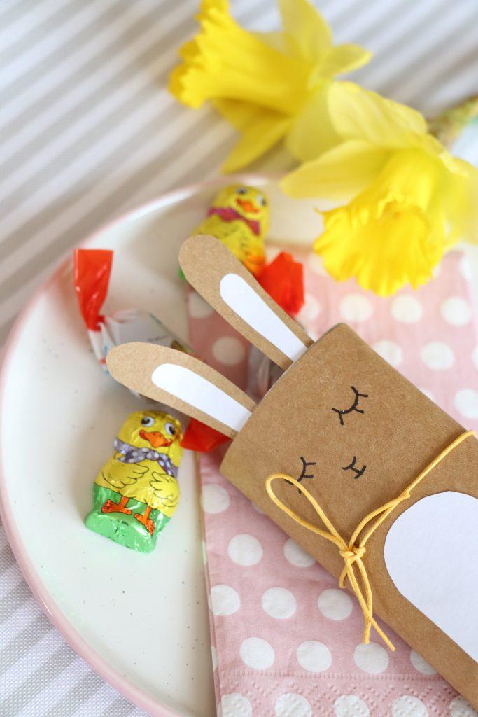 Klopapierrollen Upcycling Idee Ostern