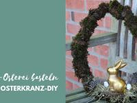 DIY: Osterkranz basteln mit Moos