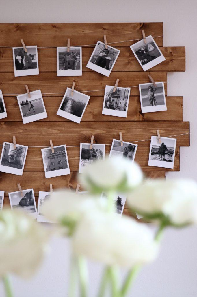 Fotowand Holz