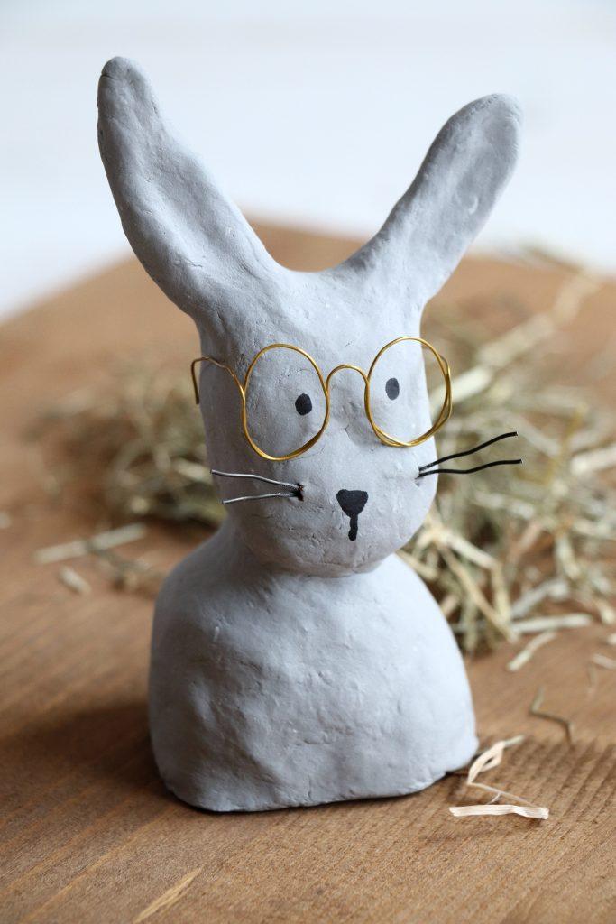 Hase mit Brille selber machen