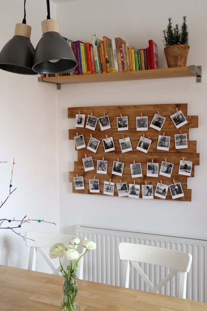 Polaroid Fotowand bauen