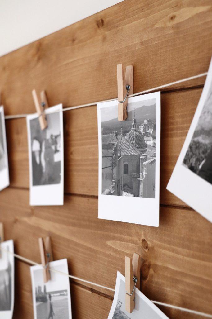Retrofotos Fotowand bauen