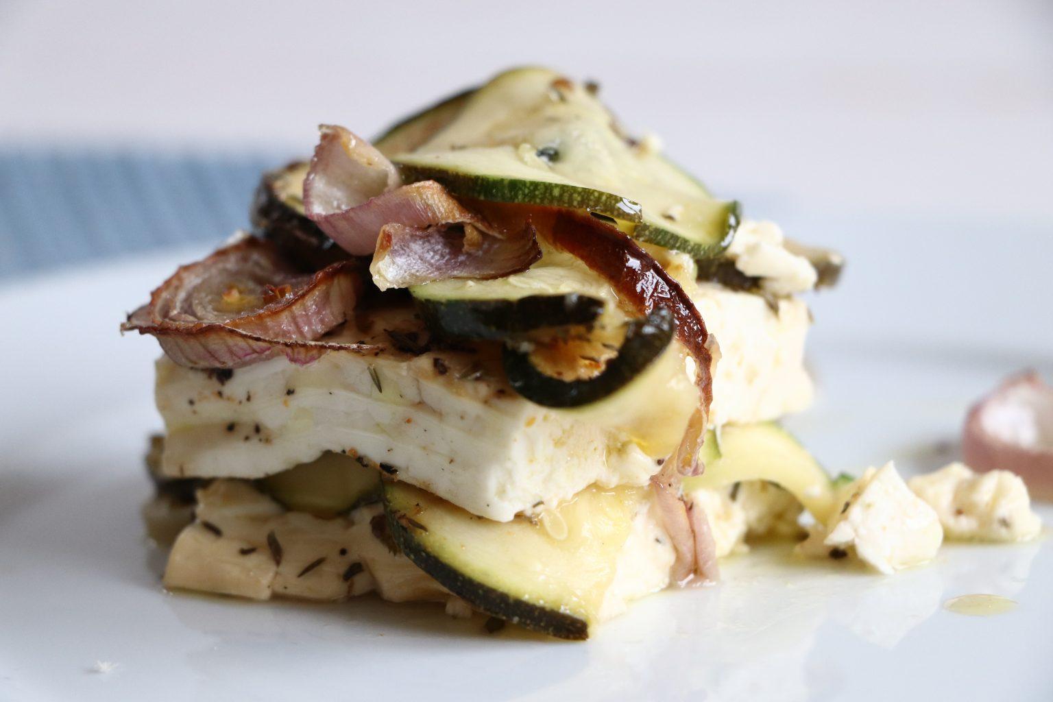 gebackener Feta mit Zucchini