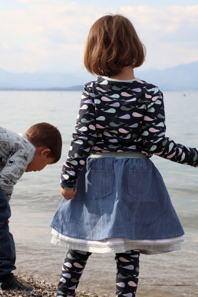 Langarmshirt selber nähen Kinder