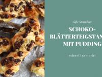 Blätterteigstangen: Süß & lecker – mit Pudding und Schokotropfen