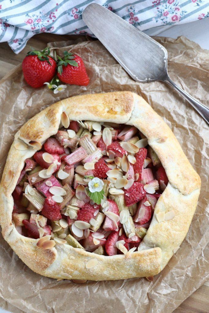 Galette Rezept mit Erdbeeren
