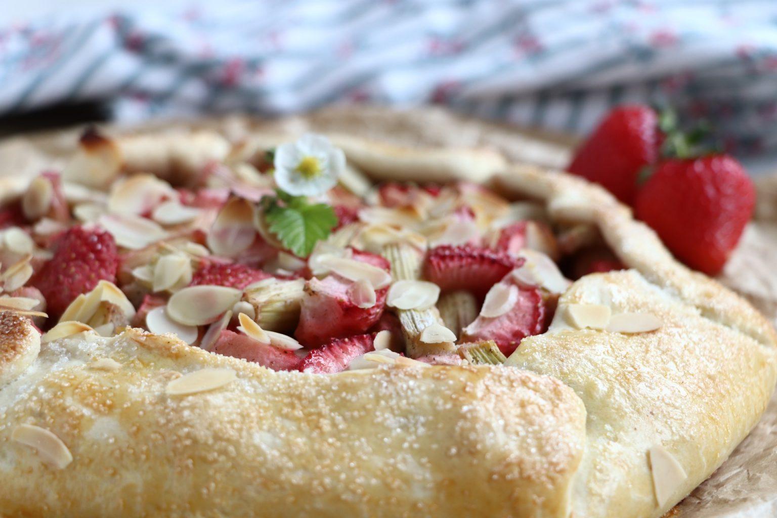 Rezept Galette Rhabarber Erdbeeren