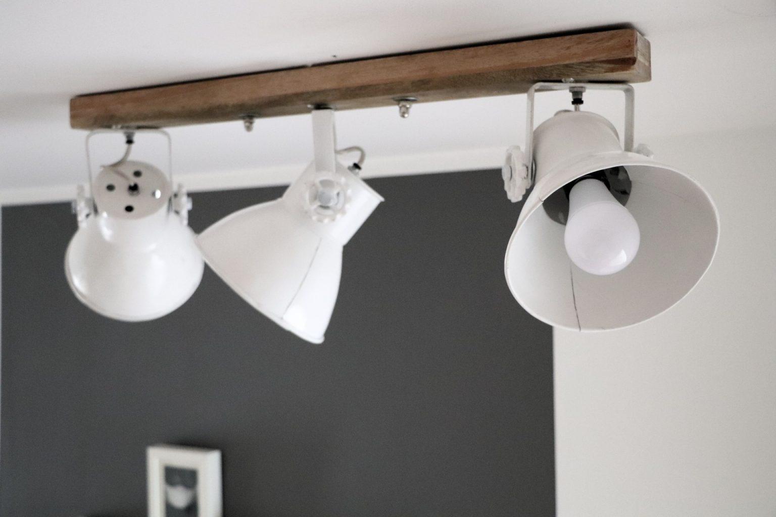 Holz Lampe skandi