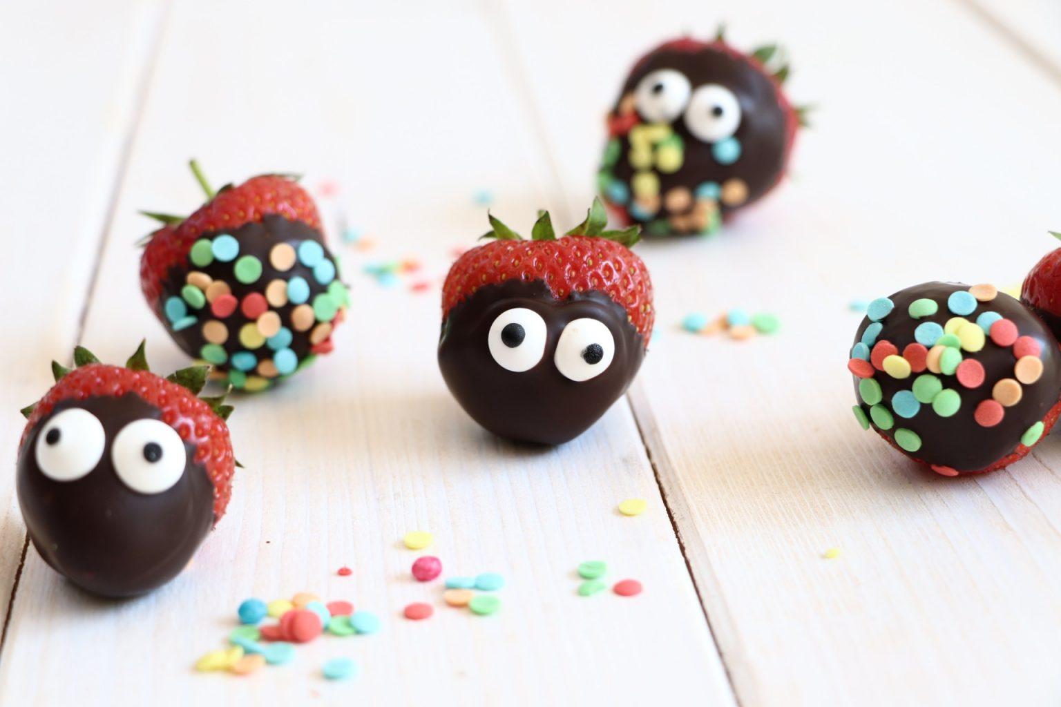 Schoko-Erdbeeren mit Streuseln