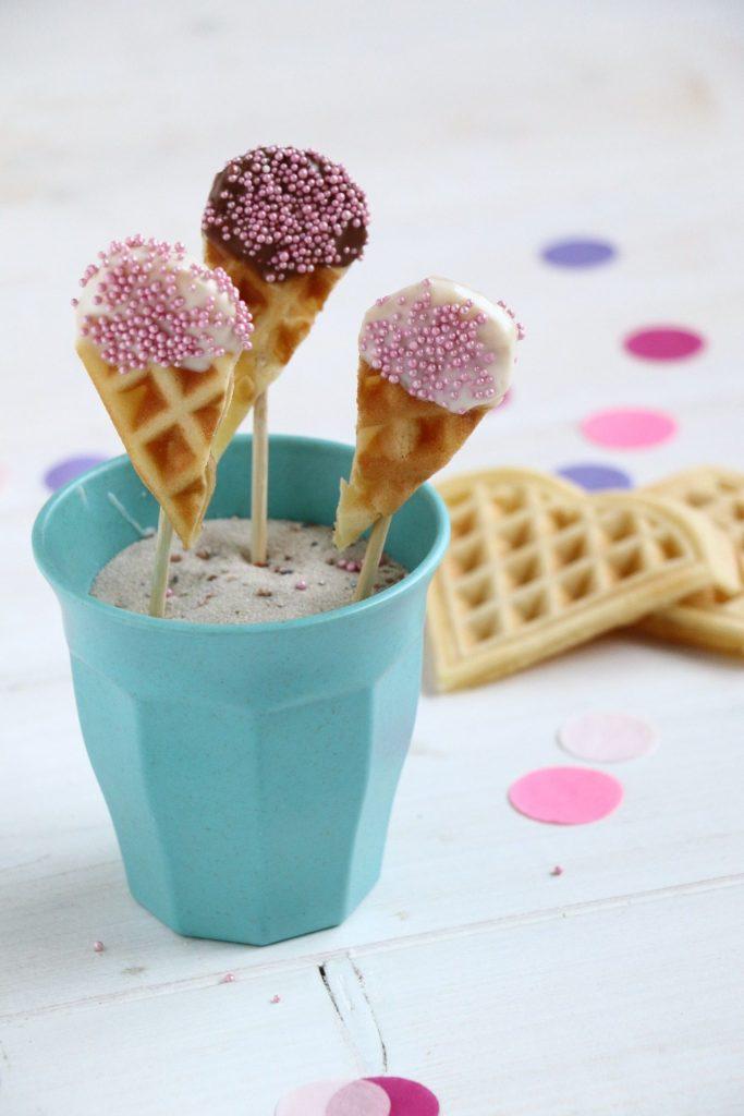 Eis-Waffeln Fingerfood Idee
