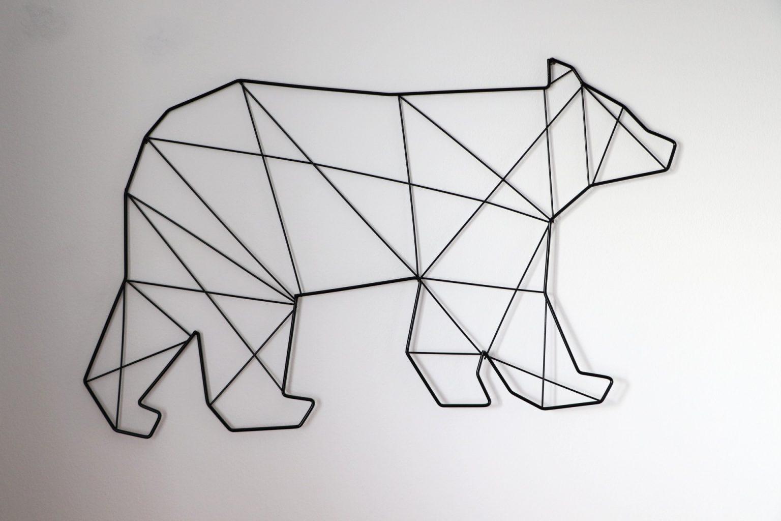 Wanddeko Kinderzimmer Metall Bär