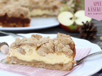 Herbst-Rezept: Apfel-Käsekuchen mit Streusel