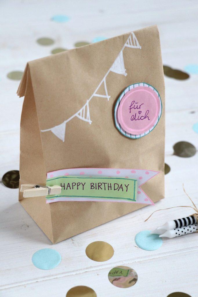 Geburtstag in der Tüte DIY