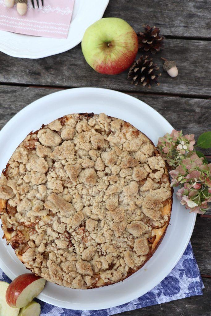 Rezept Apfel-Käsekuchen mit Streusel