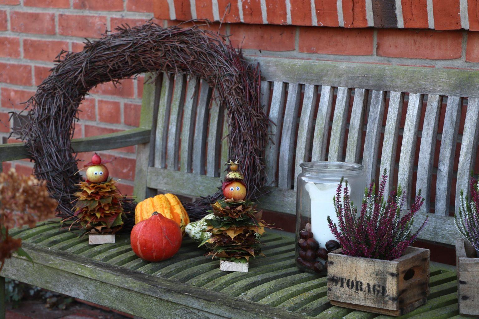 Herbst Diy Blättermännchen Basteln Mit Kindern Lavendelblog