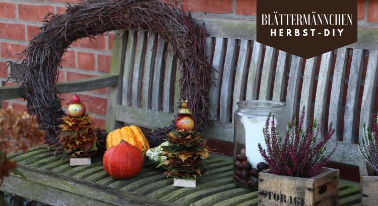 Blättermännchen Herbst DIY