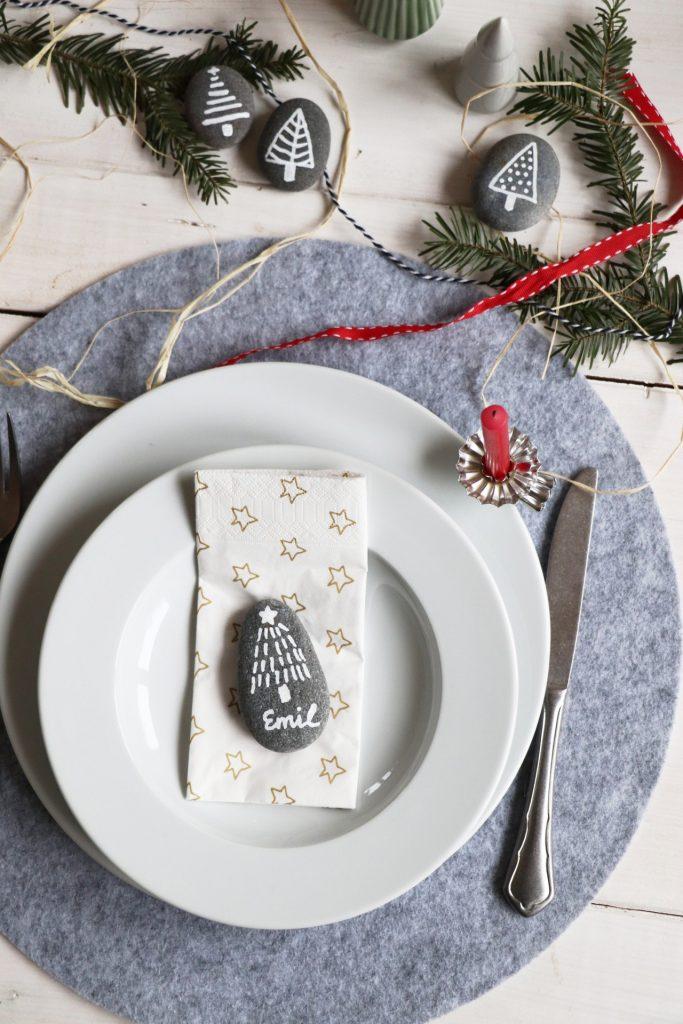 Tischdeko Weihnachten Platzkarten