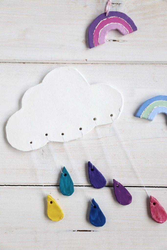 Wolke mit Regentropfen DIY