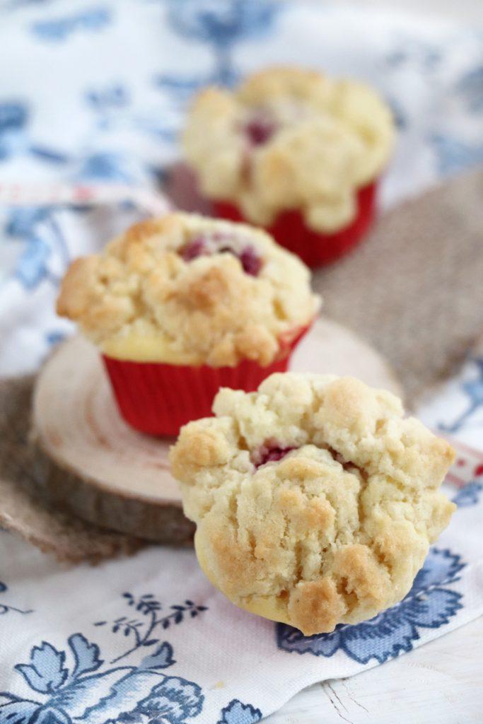 Käsekuchen-Muffins Streusel