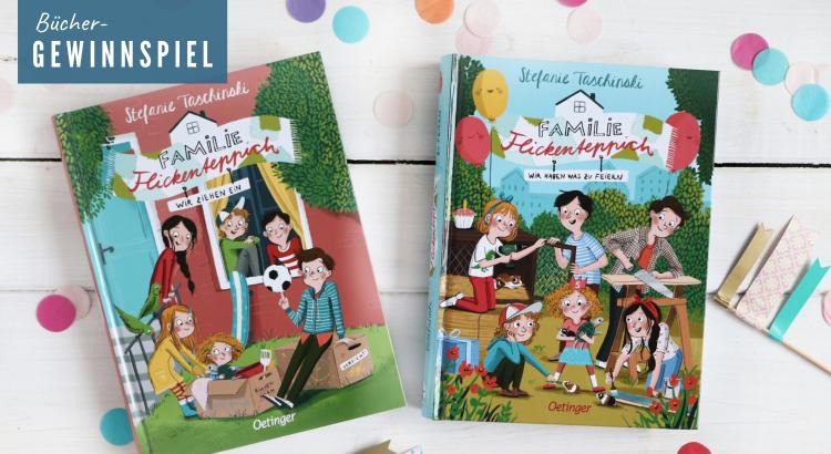 Kinderbuch Gewinnspiel Familie Flickenteppich
