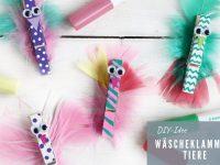 DIY für Kinder: Wäscheklammer-Tiere basteln