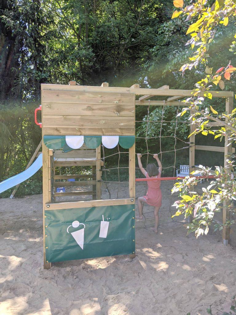 Klettergerüst im Garten Ideen