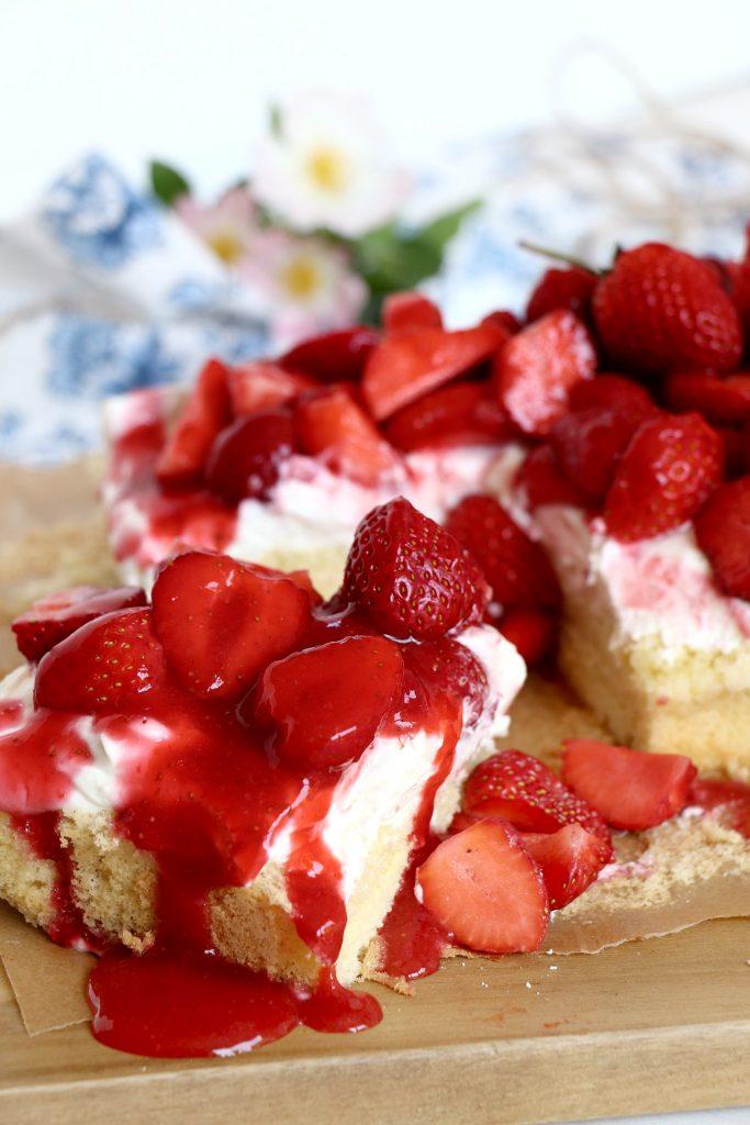 Erdbeerbiskuit Rezept