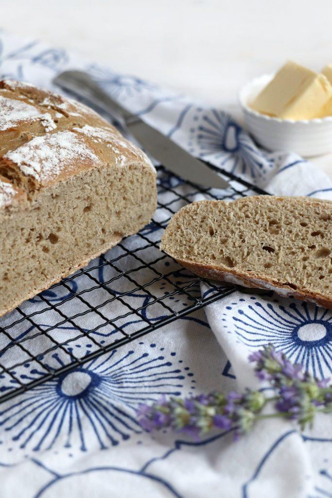 Brot im Topf backen Roggenmischbrot