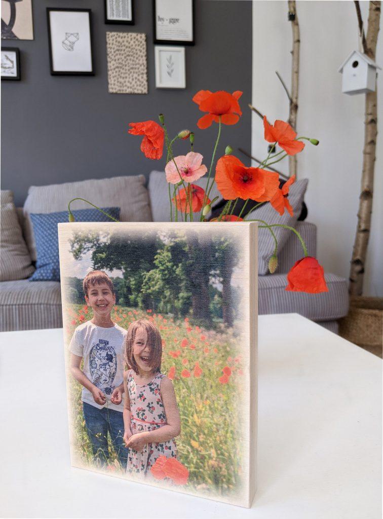 Geschenkidee Oma und Opa Foto auf Holz