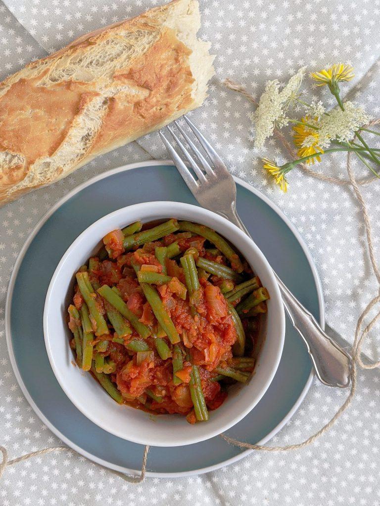 Tomaten Bohnen Gemüse