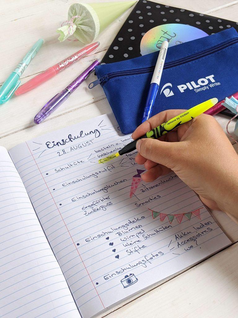 Einschulungsparty Checkliste