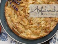 Rezept: Einfacher Apfelkuchen mit Zimt- & Zuckerkruste