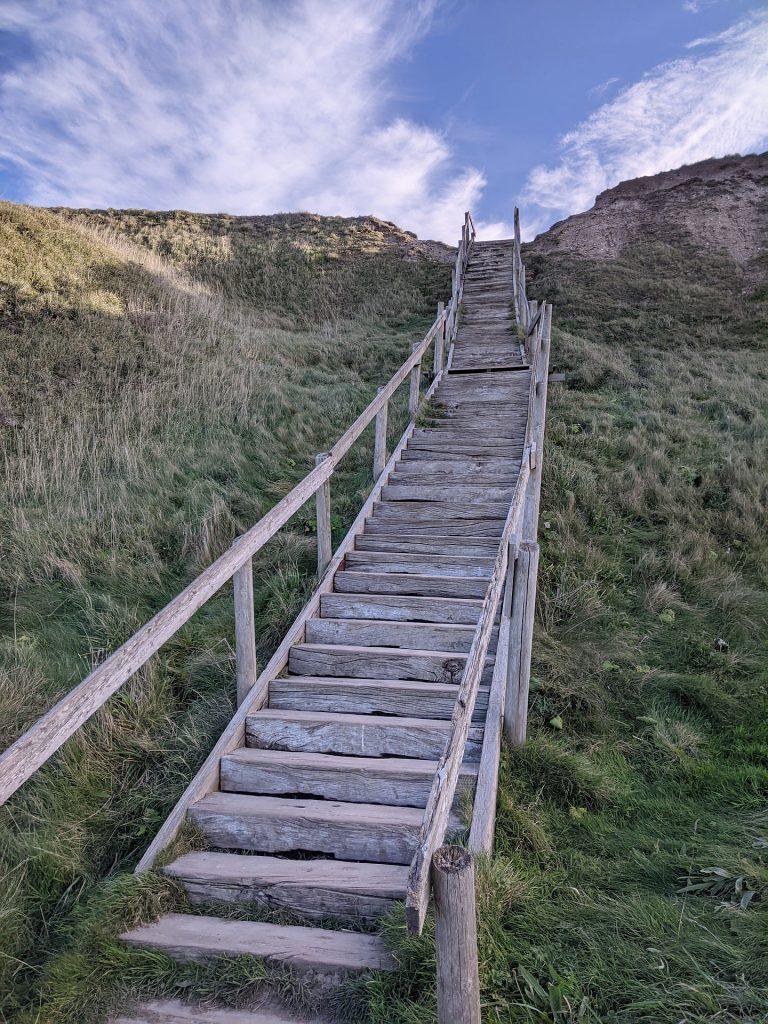 Bovbjerg Steilküste Treppe