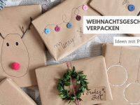Weihnachtsgeschenke verpacken: Packpapier kreativ verwenden
