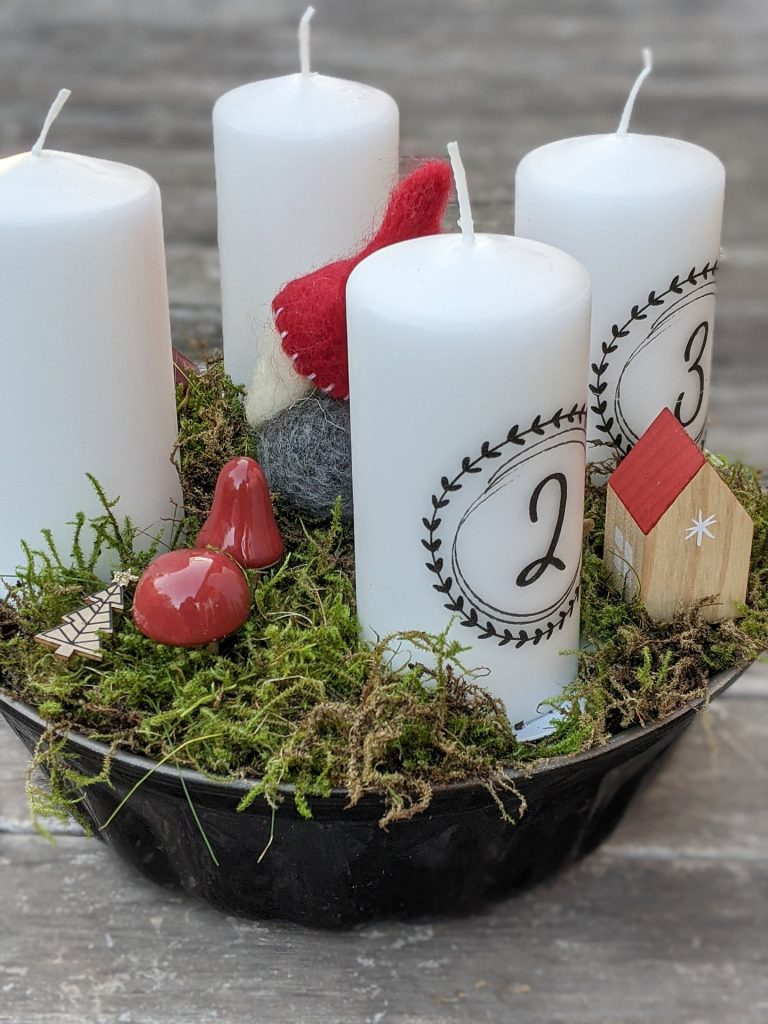 Gugelhupf-Adventskranz DIY