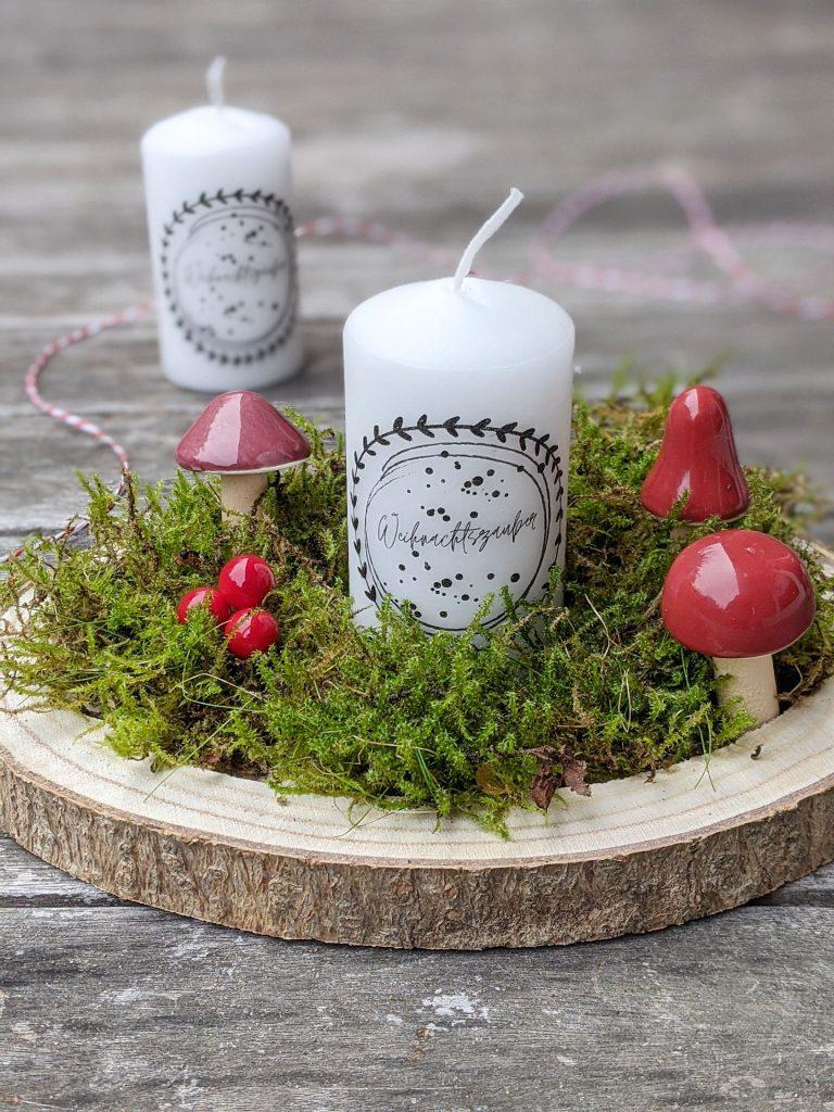 kleines Weihnachtsgeschenk Kerzen bedrucken