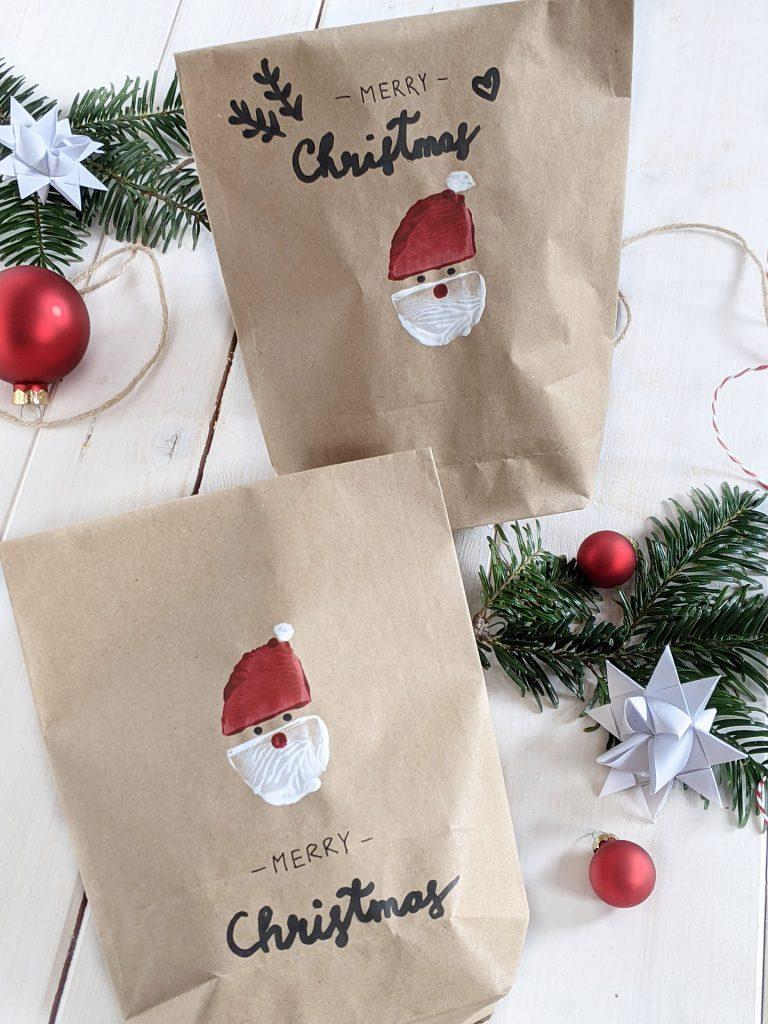 Geschenktüte Weihnachten basteln