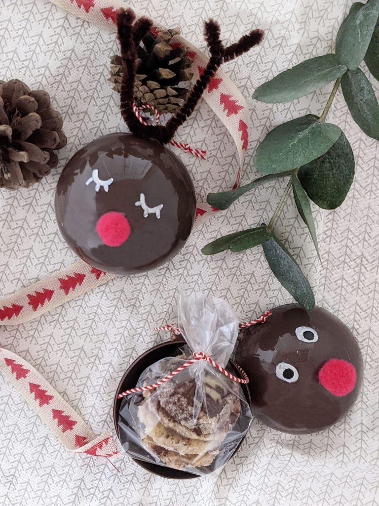 Rentier-Kugeln Bastelidee Weihnachten