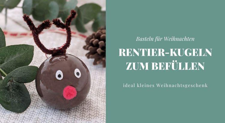 Weihnachten DIY Rentier-Kugeln