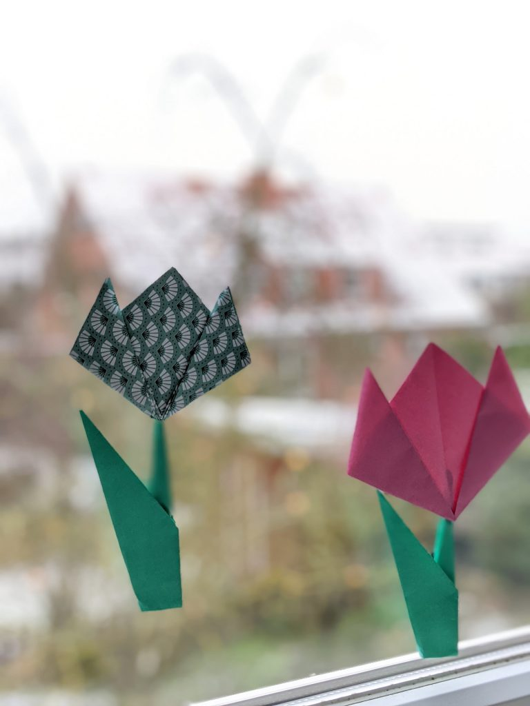 Origami-Tulpen DIY