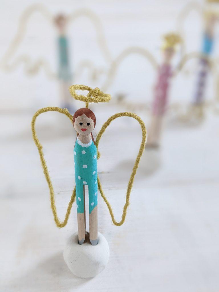 Wäscheklammer Engel DIY